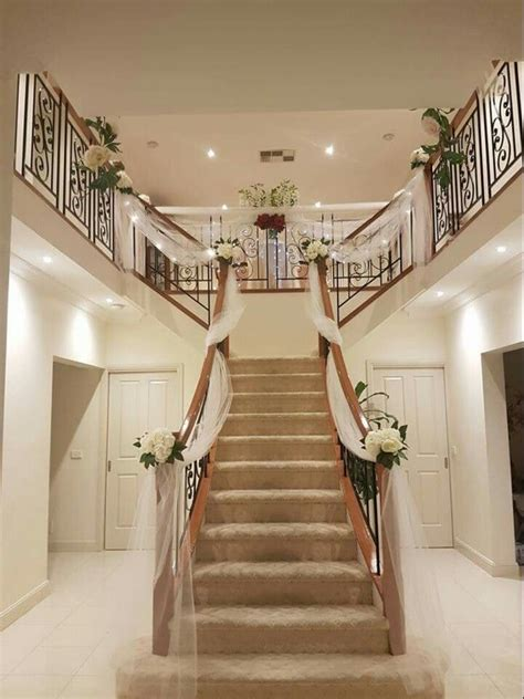 stairway decor 25 best ideas about wedding staircase decoration on
