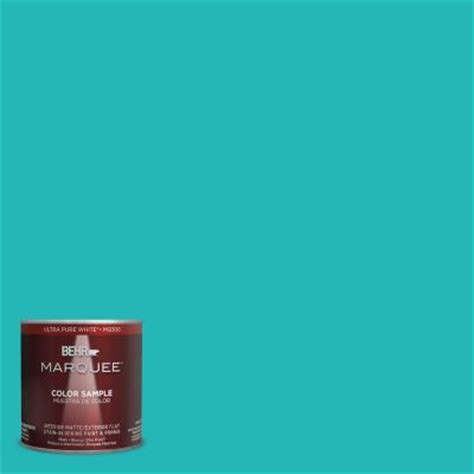 behr marquee 8 oz mq4 21 caicos turquoise interior exterior paint sle mq30416 the home depot
