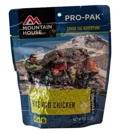 mountain house pro pak mountain house rice chicken pro pak