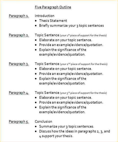 paragraph template pdf 5 paragraph essay outline pdf business