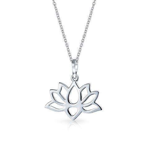 earring pendants jewelry sterling silver cut out lotus flower blossom pendant