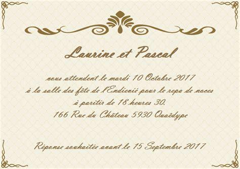 Modele Invitation Mariage Gratuit