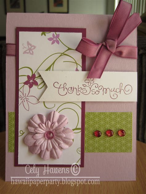 handmade greeting card thank you butterflies and flowers