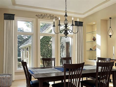 drapery ideas for dining room cornice window treatments dining room
