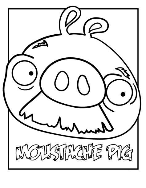 coloring pages of angry birds pigs angry bird coloring pages