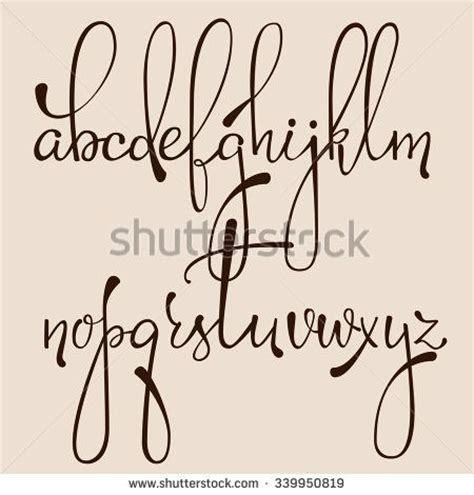 decorative font lowercase handwritten pointed pen ink style decorative calligraphy