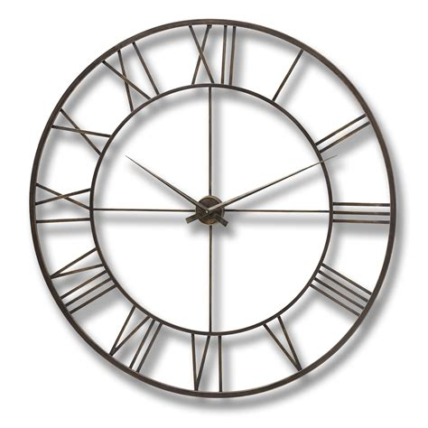modern metal wall clocks antique brown modern metal framed wall clock from hill
