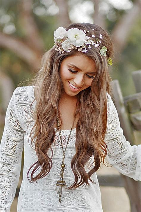 bohemian wedding hairstyles for hair 39 gorgeous blooming wedding hair bouquets wedding