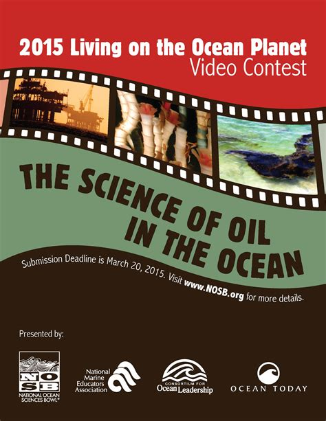 Video Sweepstakes - quot living on the ocean planet quot video contest nosb
