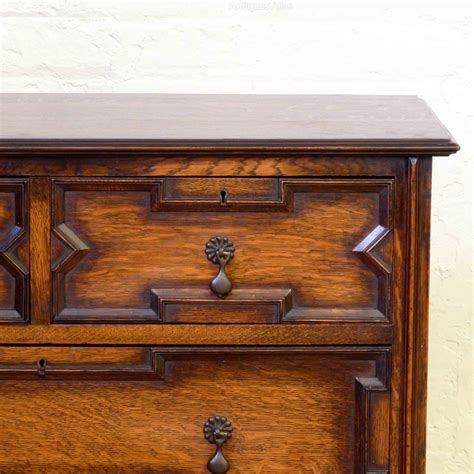 Antique Oak Chest Of Drawers by Jacobean Style Oak Chest Of Drawers Antiques Atlas