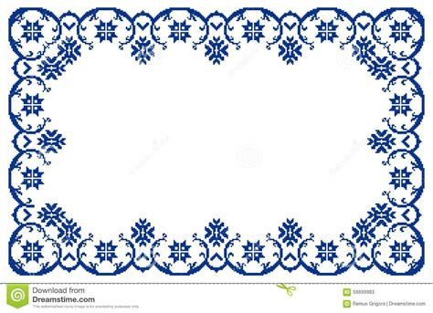 design frame cdr romanian traditional frame cdr format stock vector