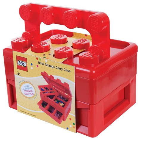 lego box lego brick storage carry with fold out handle box