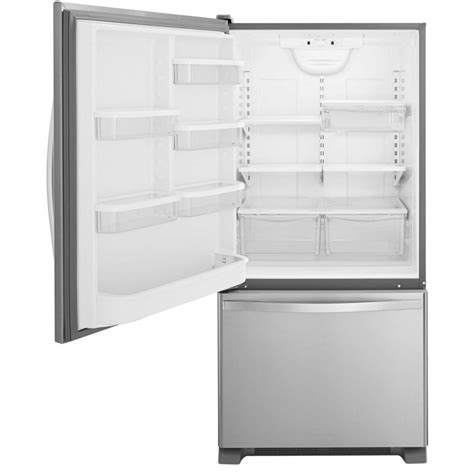 Bottom Freezer Drawer Refrigerator by Whirlpool Wrb329lfbm 19 Cu Ft Bottom Freezer Refrigerator With Freezer Drawer