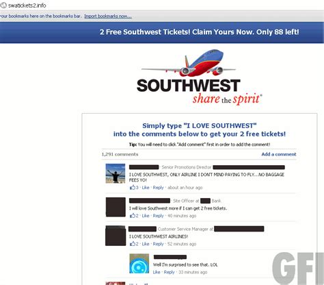 southwest airlines   facebook steer clear threattrack security labs