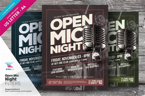 Open Mic Night Flyer Template Flyer Templates Creative Market Open Mic Poster Template