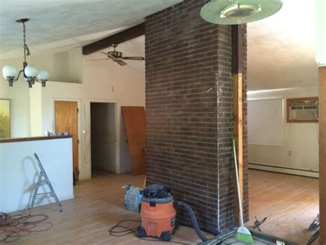 Acid Wash Brick Fireplace by Interior Brick Chimney Color