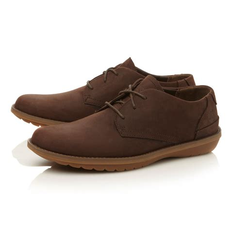 sole shoes timberland lace up gum sole country gibson shoes in brown