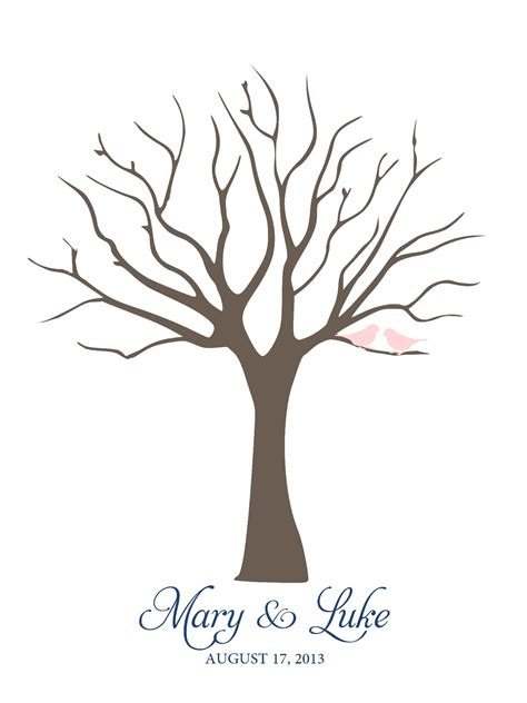 wedding fingerprint tree template