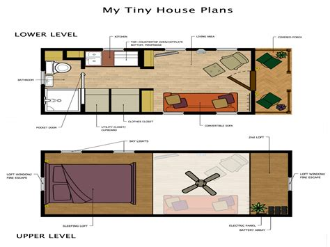 Tiny House Plans With Loft Tiny Loft House Floor Plans Tiny Houses Plans