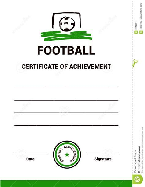 Football certificates templates uk pics for gt football vector certificate template football stock vector image yelopaper Choice Image