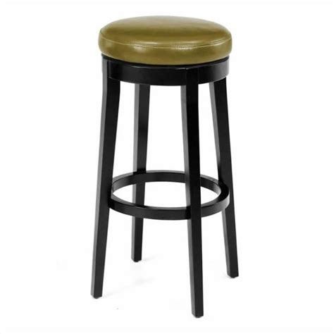 30 backless bar stools armen living 30 quot round backless swivel bar stool in wasabi