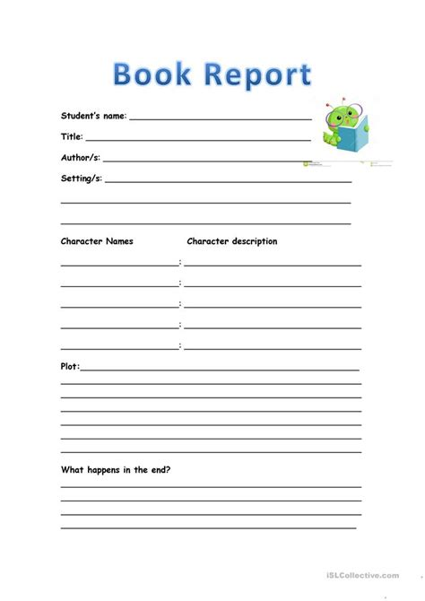 esl book report book report in for elementary 28 images best photos of
