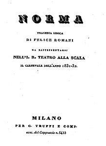 casta libretto norma opera