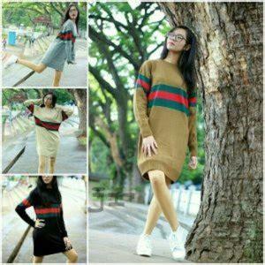 Baju Atasan Sweater Roundhand Sweater Rajut Murah Baju Muslim sweater pakaian hangat wanita model terbaru di kab