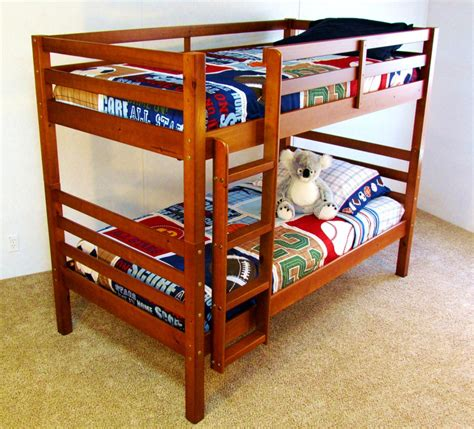 solid wood bunk beds twin over twin twin over twin solid wood bunk bed quot the boomerang quot free