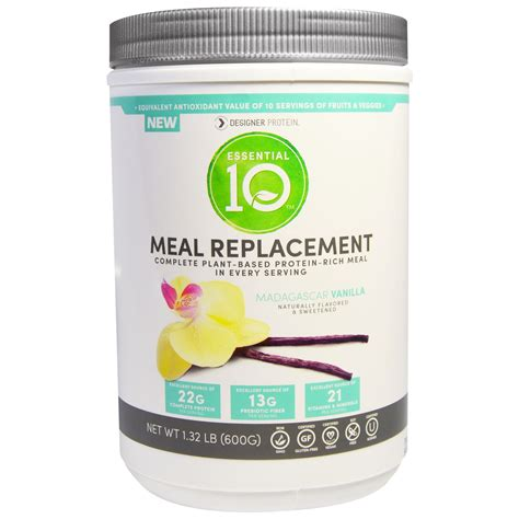protein meal replacement designer protein essential 10 meal replacement