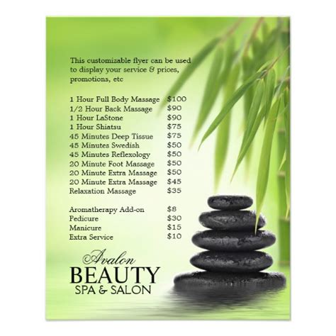 templates for massage flyers customizable promotional flyers for massage salon zazzle