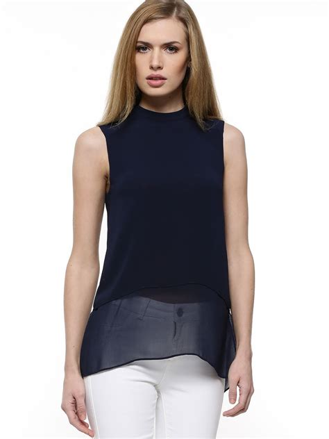 58161 Tunic Layer 1 buy warehouse layer sleeveless tunic top for s navy tunic tops in india