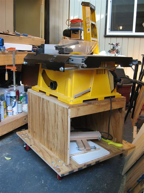table saw portable base from the workshop table saw stand andrew s view of the