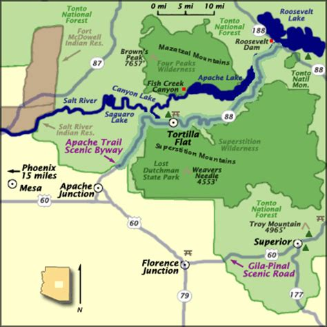 apache trail map map of apache lake cgrounds pictures to pin on