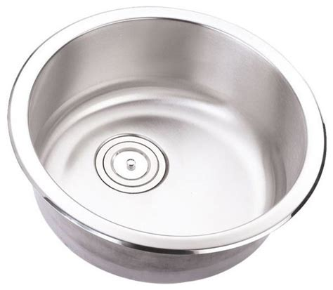 round stainless steel kitchen sink 18 inch stainless steel undermount single bowl kitchen