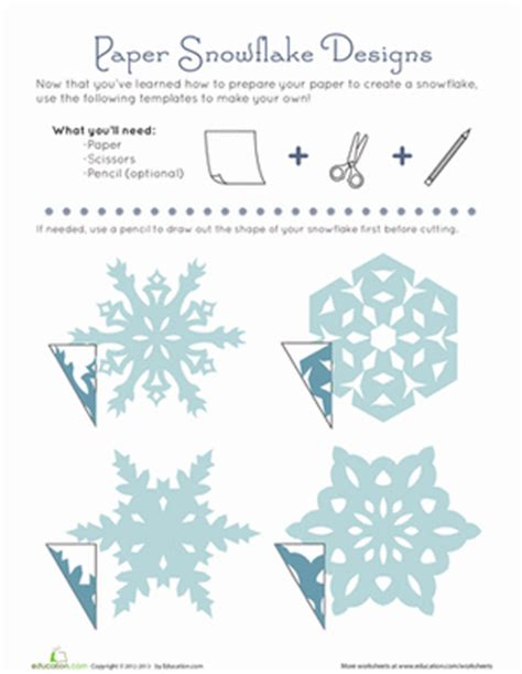 printable paper snowflake directions snowflake crafts for kids and free printable cut outs