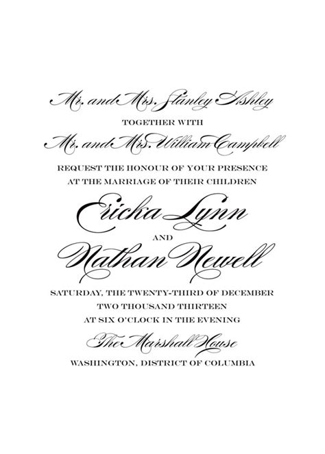 Wedding Invitations With Both Parents Names by Say It With Style Wording Wedding Invitations