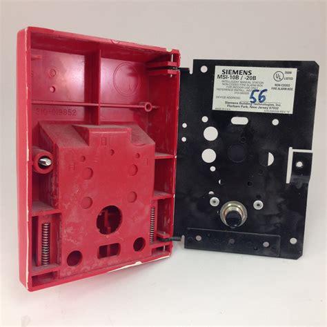 Alarm Siemens siemens msi 10b manual addressable alarm pull station