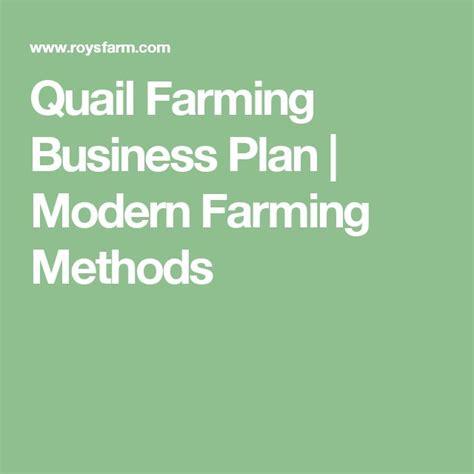 sle business plan for quail farming quail farming business plan