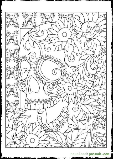 coloring pages for adults skulls day of the dead sugar skulls coloring pages crafts