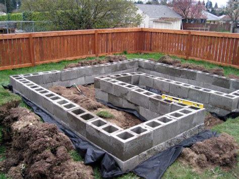cinder block bed raised garden beds cinder blocks cinder block raised beds