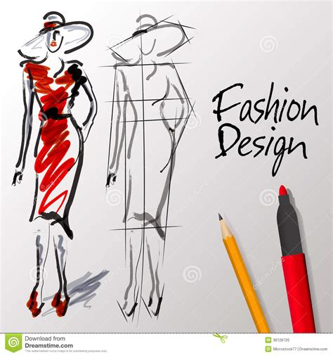 fashion sketch book fashion designer s ultimate companion books fashion design sketches stock vector image of