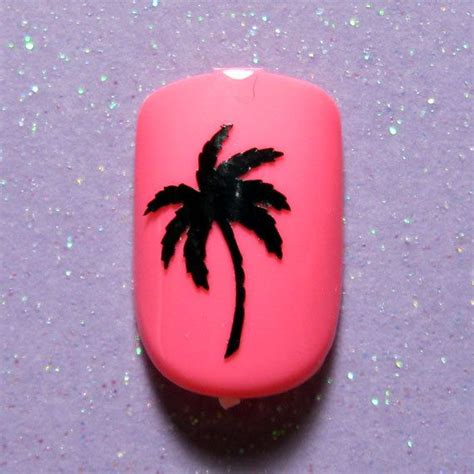Palm Tree Nail Sticker palm tree vinyl nail decals vacation gifts nail stickers