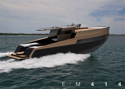 yacht boat design em414 concept boat is inspired by the design of ray and