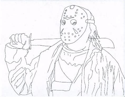 jason vorhees coloring pages to print coloring pages