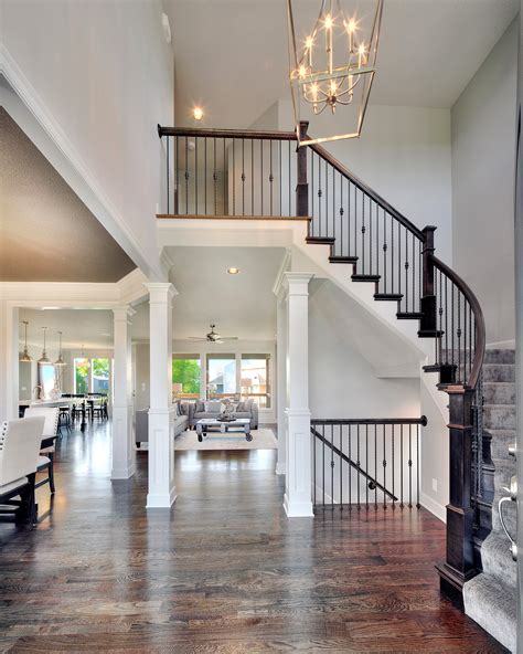 open floor plan interior design 2 story entry way new home interior design open floor