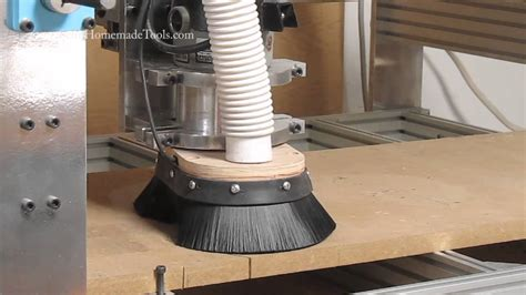 cnc router dust collection shoeskirt youtube