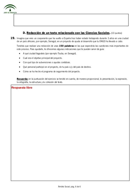 ciencias sociales 6 abril 2013 soluciones pruebas libres eso 225 mbito social andaluc 237 a