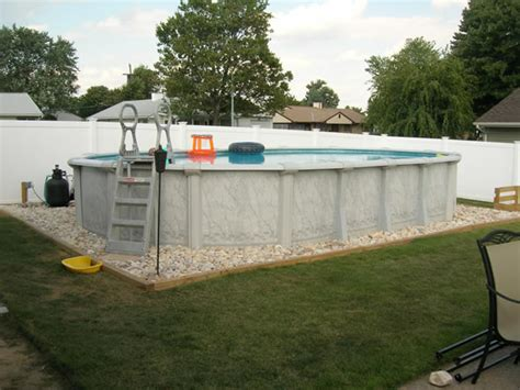 How To Landscape Around An Above Ground Pool Inyopools Com Landscaping Around Above Ground Pool
