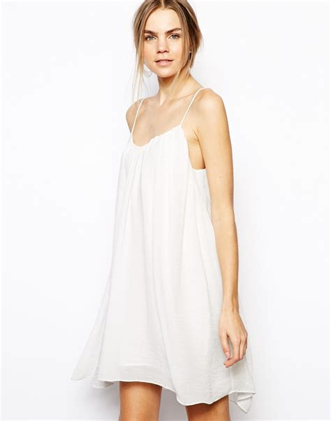 swing cami dress just female swing cami dress in white lyst